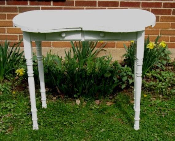 Vintage Kidney Shaped Vanity Table With 2 Drawers Sweet