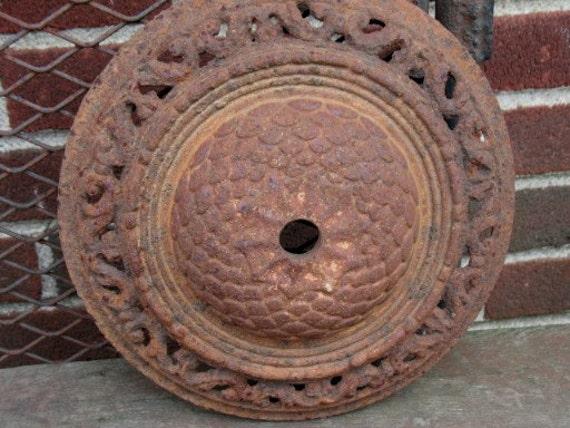Vintage Rusty Crusty Floor Lamp Base