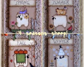 E PATTERN - 4 Seasons Sheep - Designed by Terrye French - Painted by Me - FAAP