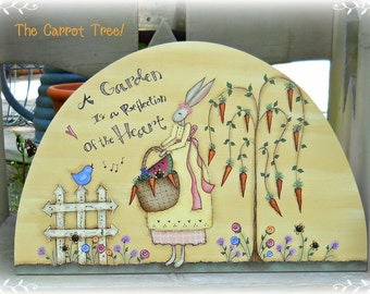 E PATTERN - The Carrot Tree in the Garden - So sweet - Designed by T. French & Painted by me, Sharon B - FAAP