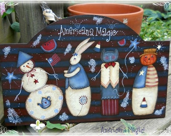 E PATTERN - Americana Magic - ALL seasons - Designed by Terrye French & Painted by me, Sharon B - FAAP