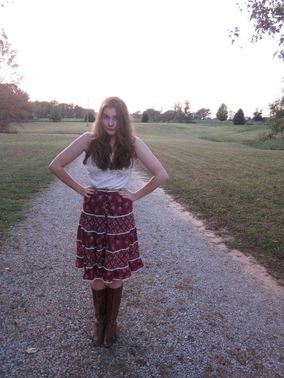 Vintage Gunne Sax Prairie Skirt