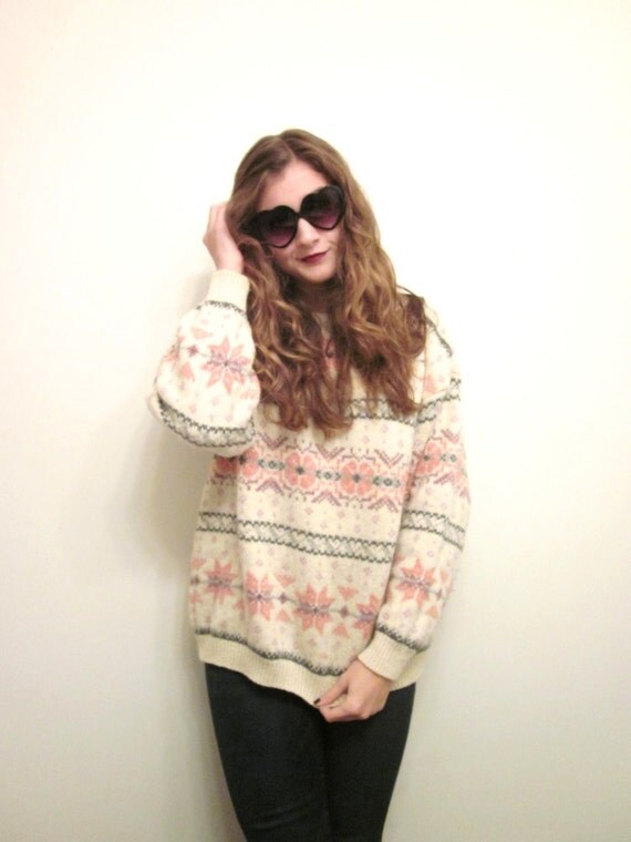 WINTER CLEARANCE --- Vintage Nordic Sweater