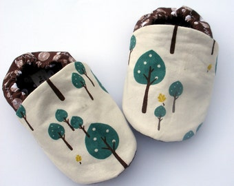 Sale - Little Tree Hugger Organic Cotton Baby Booties Boy or Girl Handmade Booties 0 3 6 12 18 months- Baby Clothes Eco
