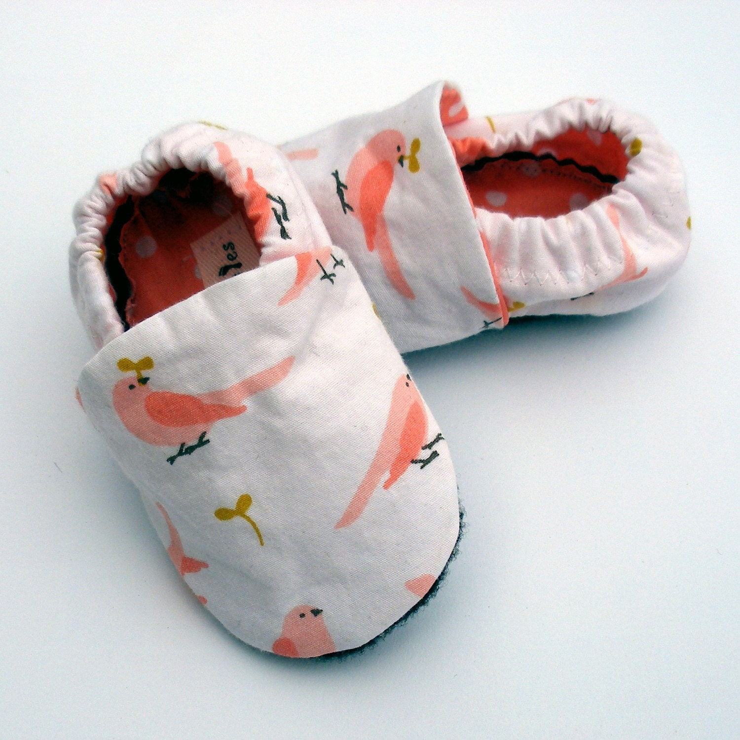 Organic Baby Shoes Girl 0 3 months months Ready to Ship