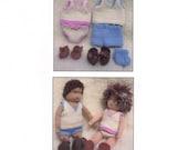 Knitting Pattern PDF Basic Wardrobe for Knitted Waldorf Dolls