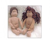 Knitted Waldorf Doll PDF, Soft doll style