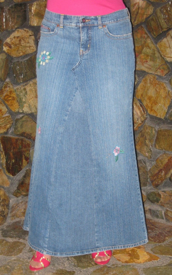 Long Denim Skirt New York And Company