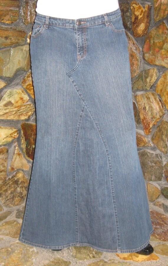 sale venezia blue jean denim skirt sz 3x plus size by