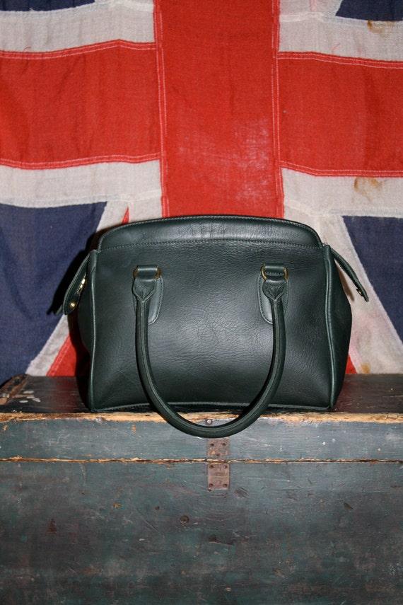 RESERVED for Elisabeth - Leather Bag - Sea Green & Brass - Haute HIPPIE - 1970s VINTAGE