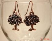 Copper Tree Charm Earrings SALE SALE SALE
