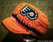Philadelphia Flyers Inspired Crocheted Baseball Cap (Newborn - Children Size) (Made to Order)
