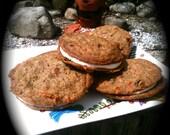 VEGAN Carrot Cake Cookie Sandwiches