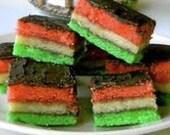 VEGAN Rainbow Cookies Venetian rainbow cookies- Italian tri-color cookies