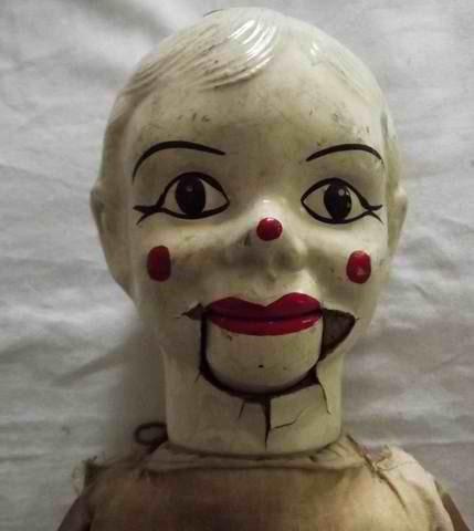 1930 S Antique Charlie Mccarthy Clown Composition