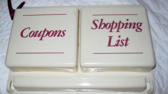 50s  Shopping, Coupon Wall Holder, room for pen, No more losing coupons, SALE