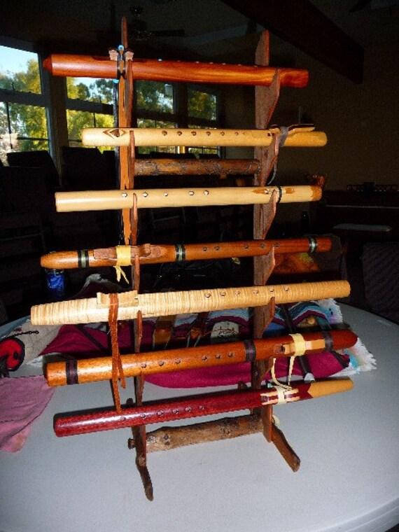 Redwood Native American Flute rack