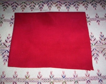 Red Felted Wool