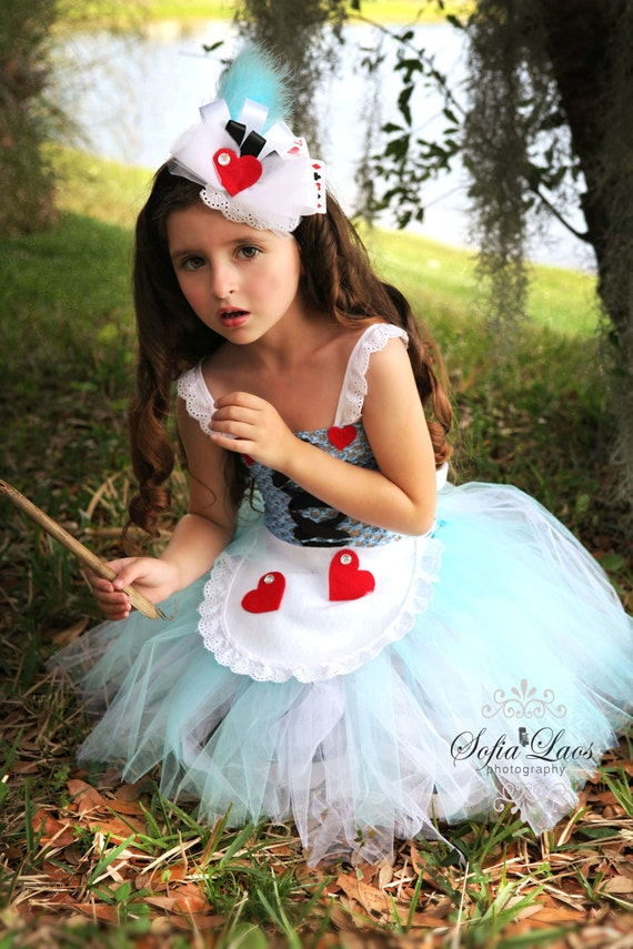 cUSTOM LISTING FOR sARAH Alice in Wonderland inspired dress and hair piece