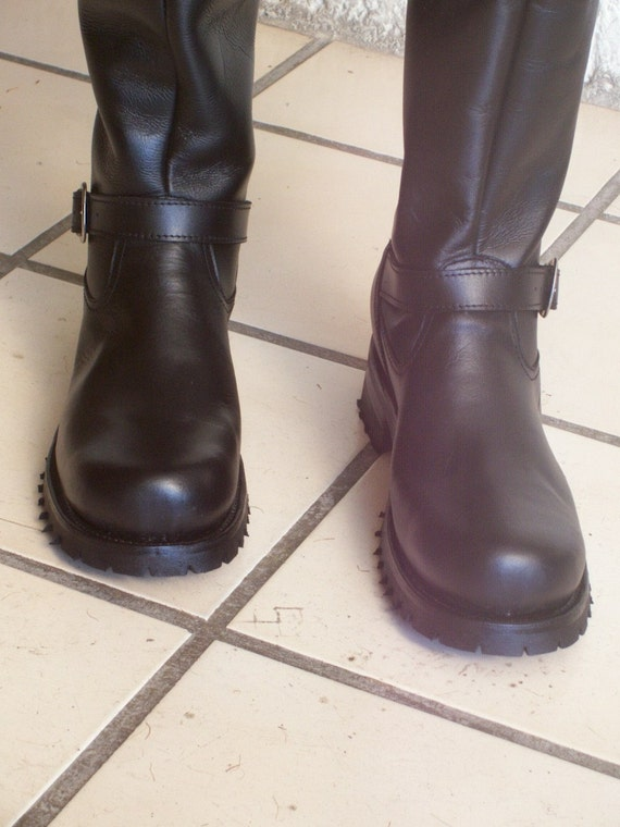 thigh high custom engineer boots 34 inches high shafts