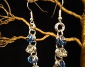 Ravenclaw Scarf Beaded Chain Earrings