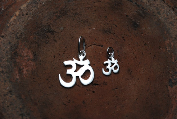 Tiny Sterling Silver OM Pendant