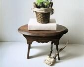 Vintage Wooden Footstool