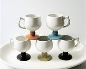 R E S E R V E D Vintage Pedestal Mugs (Set of Five)