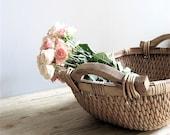 Vintage Basket Wooden Handles