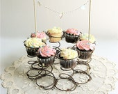 Vintage Metal Spring Repurposed Cupcake Stand