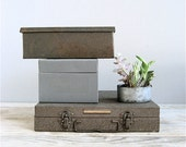 RESERVED Vintage Collection Metal Boxes