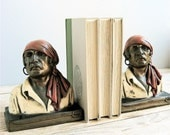 RESERVED Vintage Marion Bronze Pirates Bookends