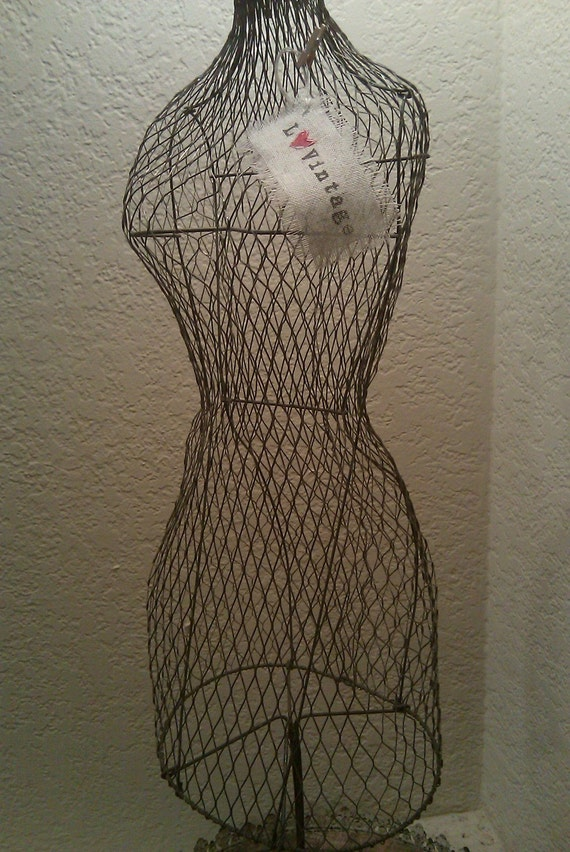 Vintage Wire Dress Form By Lovintagefinds On Etsy