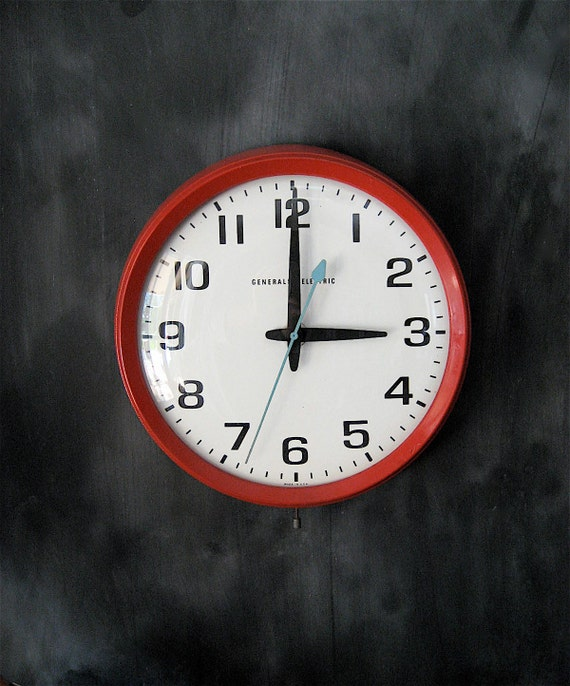 Industrial General Electric Wall Clock