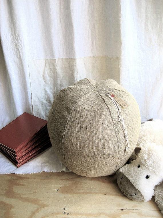 Burlap Pouf/Pillow/Ottoman