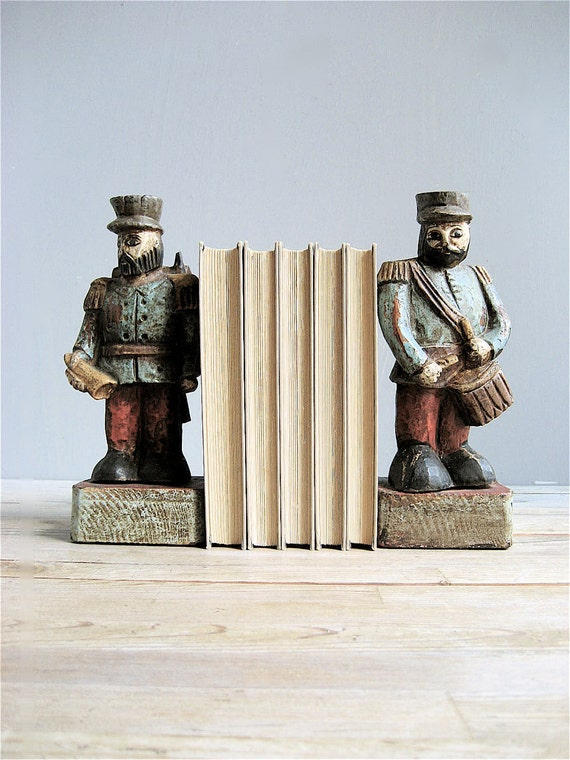 Antique Marching Band Bookends