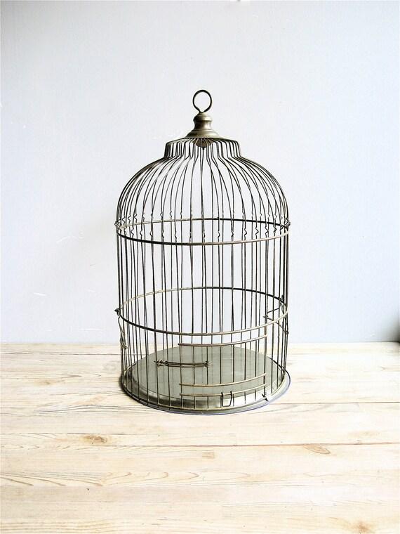 Vintage Large Brass Birdcage