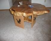 maple burlwood coffee table