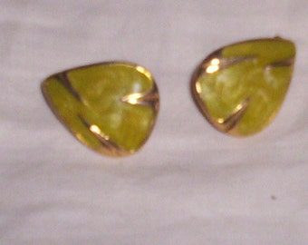 vintage clip on earrings enameled
