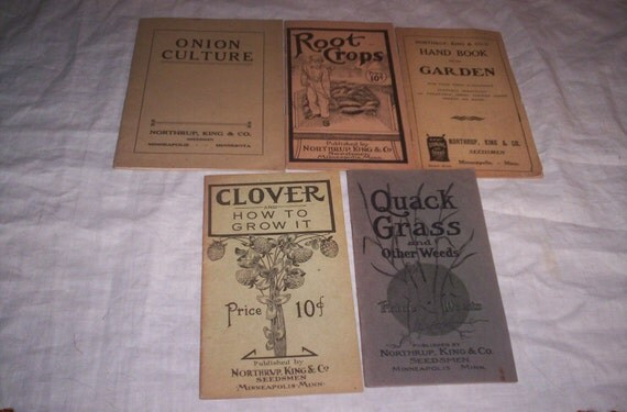 5 old northrup seeds catalogs pamphlets 1907