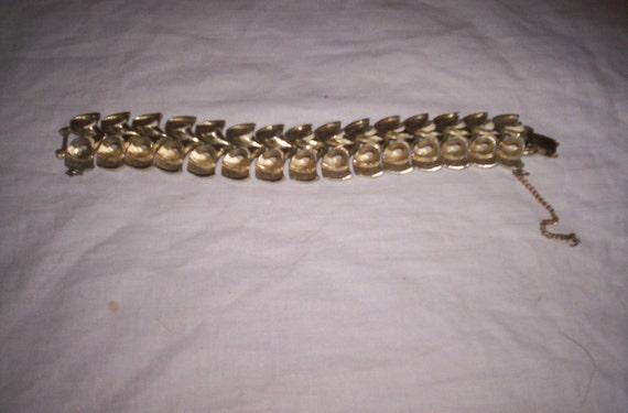 vintage bracelet coro goldtone