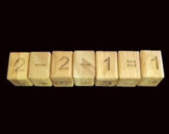 Math Snake 7 handmade wood brain teaser puzzle
