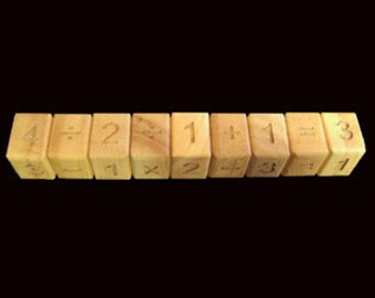 Math Snake 9 handmade wood brain teaser puzzle