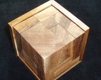 8 L-ements wood puzzle and brain teaser