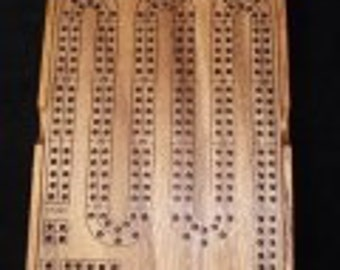 Wooden Cribbage Board w/ wood cover