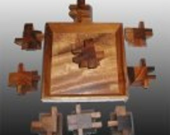 Ziggurat Square - A very unique and CHALLENGING wood puzzle