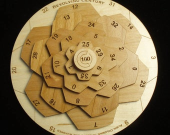 Revolving Century II -  wooden math brain teaser puzzle -Unique Design - Maple and Alder wood