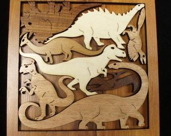 Dinosaur Dilemma an historic adventure of a wood puzzle and brain teaser