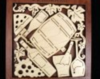 Wine Lovers Puzzle - an Artistic, Challenging and Unique Wood Puzzle