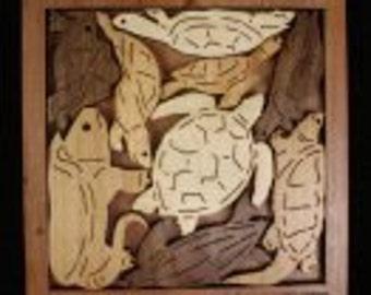 Turtle Creek Puzzle Wooden Puzzle Wood Puzzles